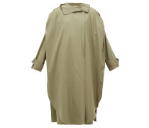 Oversized Wrap Cotton-blend Trench Coat