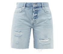 Le Slouch Distressed-denim Bermuda Shorts