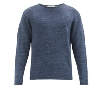 Crew-neck Knitted-linen Sweater
