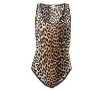 Sleeveless Leopard-print Jersey Bodysuit
