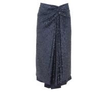 Kayla Draped Sequinned Midi Skirt