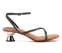 Vase Sculptural-heel Leather Sandals