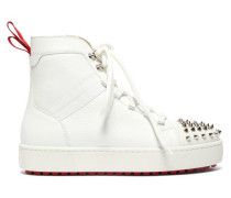 Smartic Spike High-top Leather Trainers