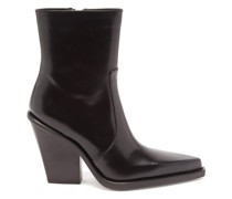Rodeo Point-toe Leather Ankle Boots