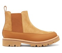 Abner Leather-trimmed Suede Chelsea Boots