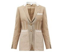 Single-breasted Panelled Wool-blend Jacket