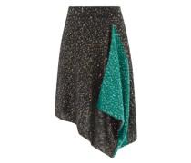 Sequinned Handkerchief-hem Knitted Skirt