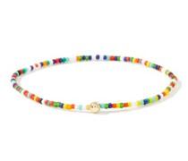 Diamond & 14kt Gold Beaded Bracelet