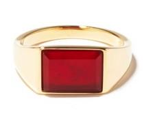 Lennox Agate & 14kt Gold-vermeil Ring