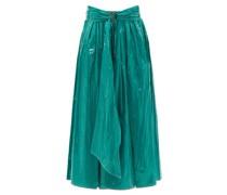 Amalia Pvc-coated Satin Skirt