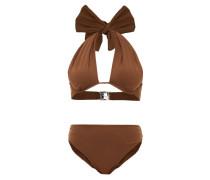 Bow Halterneck High-rise Bikini