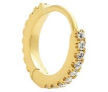 Eternity Diamond & 18kt Gold Single Earring