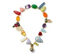 Wonderland Multi-stone, Pearl & 18kt Gold Choker