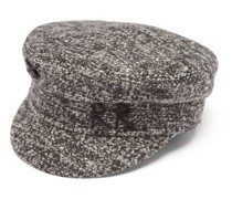 Logo-embroidered Tweed Baker Boy Cap