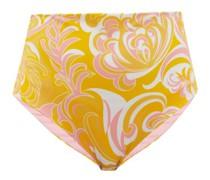 Albizia-print High-rise Bikini Briefs