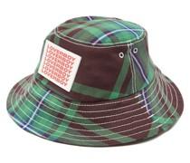 Logo-patch Tartan Twill Bucket Hat