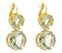 Double Crown Amethyst & 18kt Gold Earrings