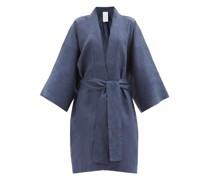 Wide-sleeve Linen-poplin Robe