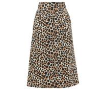 Apollo Leopard-print Cotton A-line Skirt