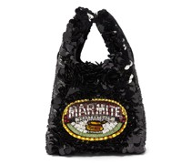 Marmite Sequinned Recycled-satin Tote Bag