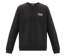 Logo-patch Cotton-blend Jersey Sweatshirt