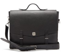 Rider Grained-leather Briefcase