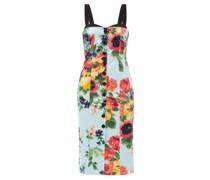 Floral-print Cotton-blend Satin Midi Dress