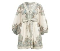 Brighton Paisley-print Linen Mini Dress