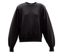 Vanessa Padded-shoulder Organic-cotton Sweatshirt
