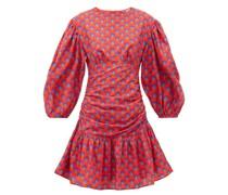 Donna Scallop-print Cotton Mini Dress