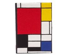 Mondrian Embroidered Book Clutch Bag