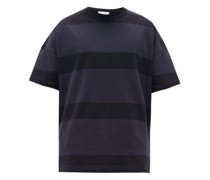 Oversized Striped Cotton-jersey T-shirt