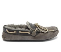 Fireside Suede And Shearling Slippers