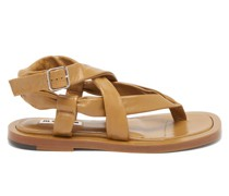 Wraparound Leather Sandals