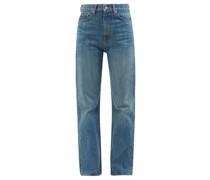 Quark High-rise Straight-leg Jeans