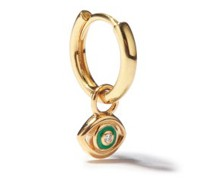 Evil Eye Diamond & 14kt Gold Single Earring