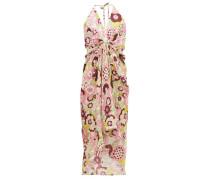 Jennifer Gathered Floral-print Cotton Dress