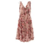 Cassia Floral-print Ruffled Chiffon Dress