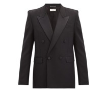 Double-breasted Satin-lapel Wool Tuxedo Jacket