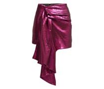 Draped Sequinned Mini Skirt