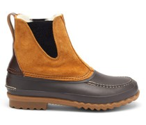 Barn Suede, Leather And Shearling Boots