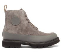 Anton Leather-trimmed Suede Boots