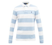 Logo-embroidered Stripe Cotton-jersey Rugby Shirt