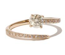 Grass Seed Diamond & 18kt Gold Ring