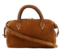 Perriand City Small Braided-handle Suede Bag