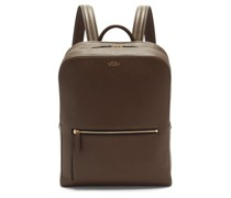 Ludlow Grained-leather Backpack