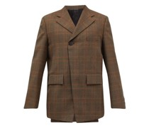 Oversized Double-breasted Wool-blend Blazer