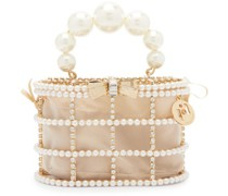 Holli Loulou Faux-pearl & Crystal Clutch Bag