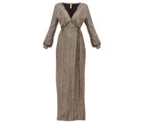 Priela Sequinned Crepe Wrap Dress