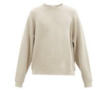 Oversized Crew-neck Linen-jersey Sweatshirt